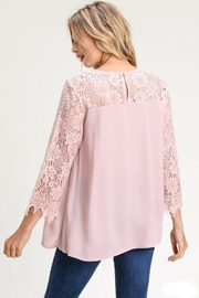 The Dressing Room Lace Sweetheart Blouse - Front full body