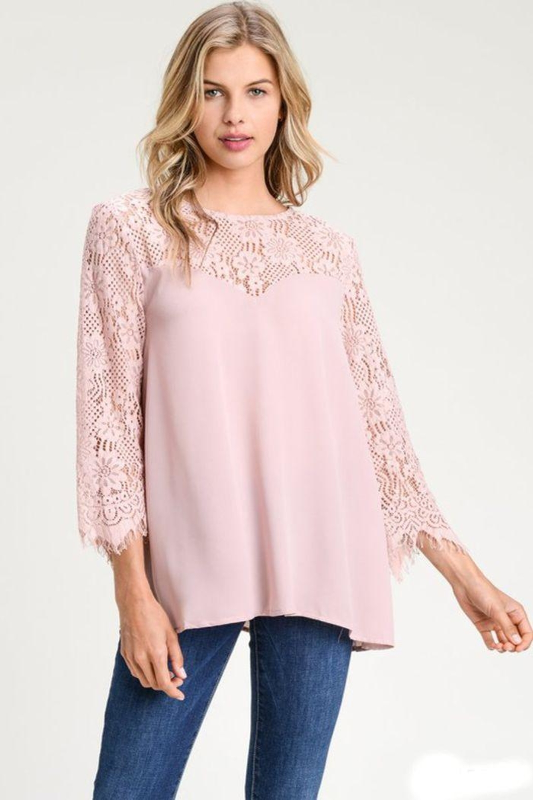 The Dressing Room Lace Sweetheart Blouse - Main Image