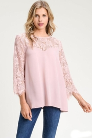 The Dressing Room Lace Sweetheart Blouse - Front cropped