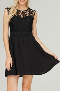 Rosette Lace Sweetheart Dress - Product List Image