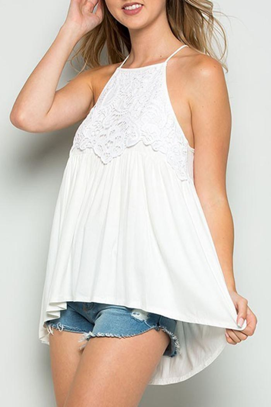 CY Fashion Lace Swing Tank - Main Image
