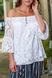 Howard's Lace Tassel-Tie Top - Front cropped