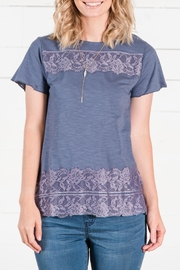 Go Fish Clothing Lace Tee - Front cropped
