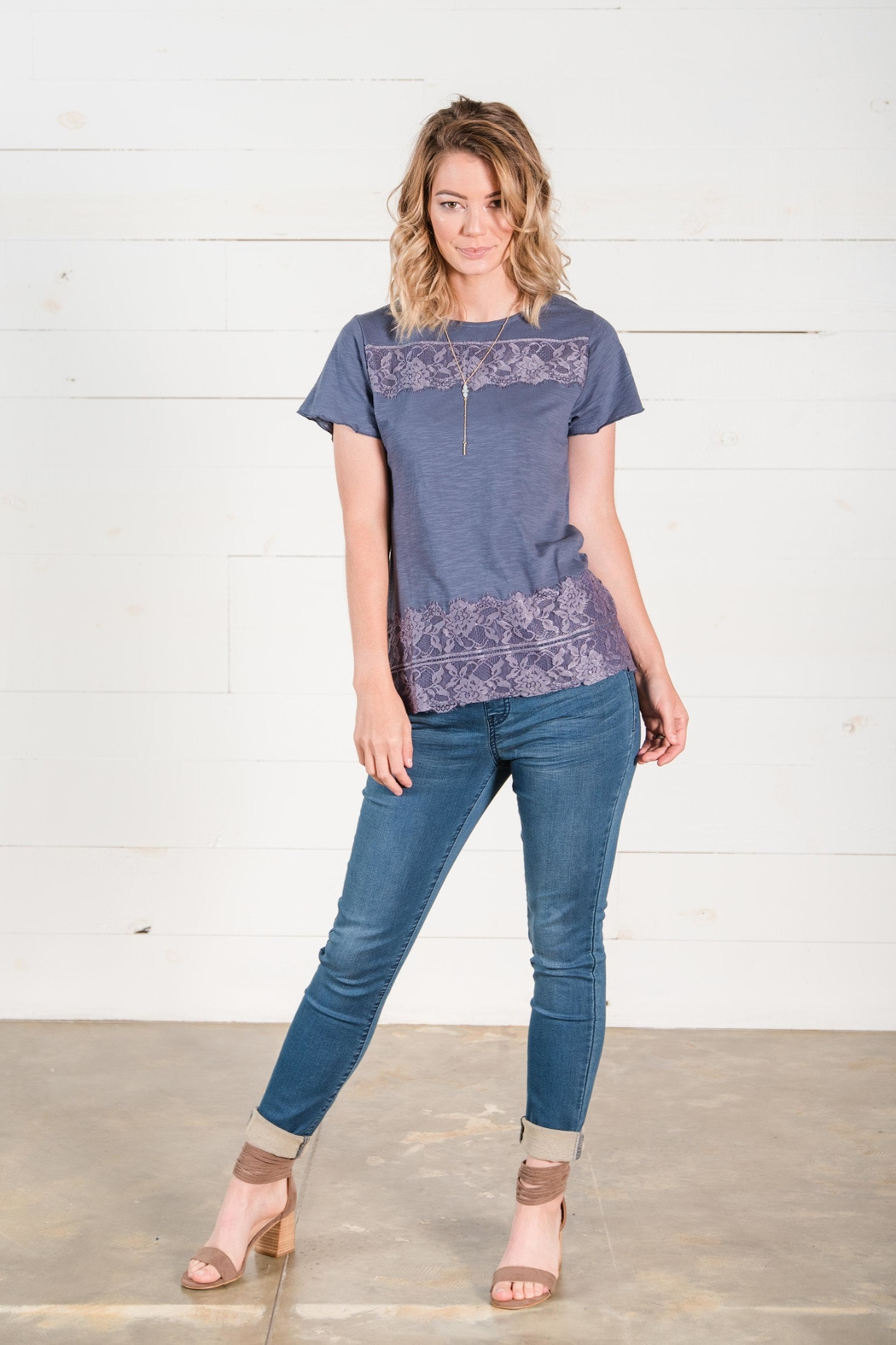 Go Fish Clothing Lace Tee - Front Full Image