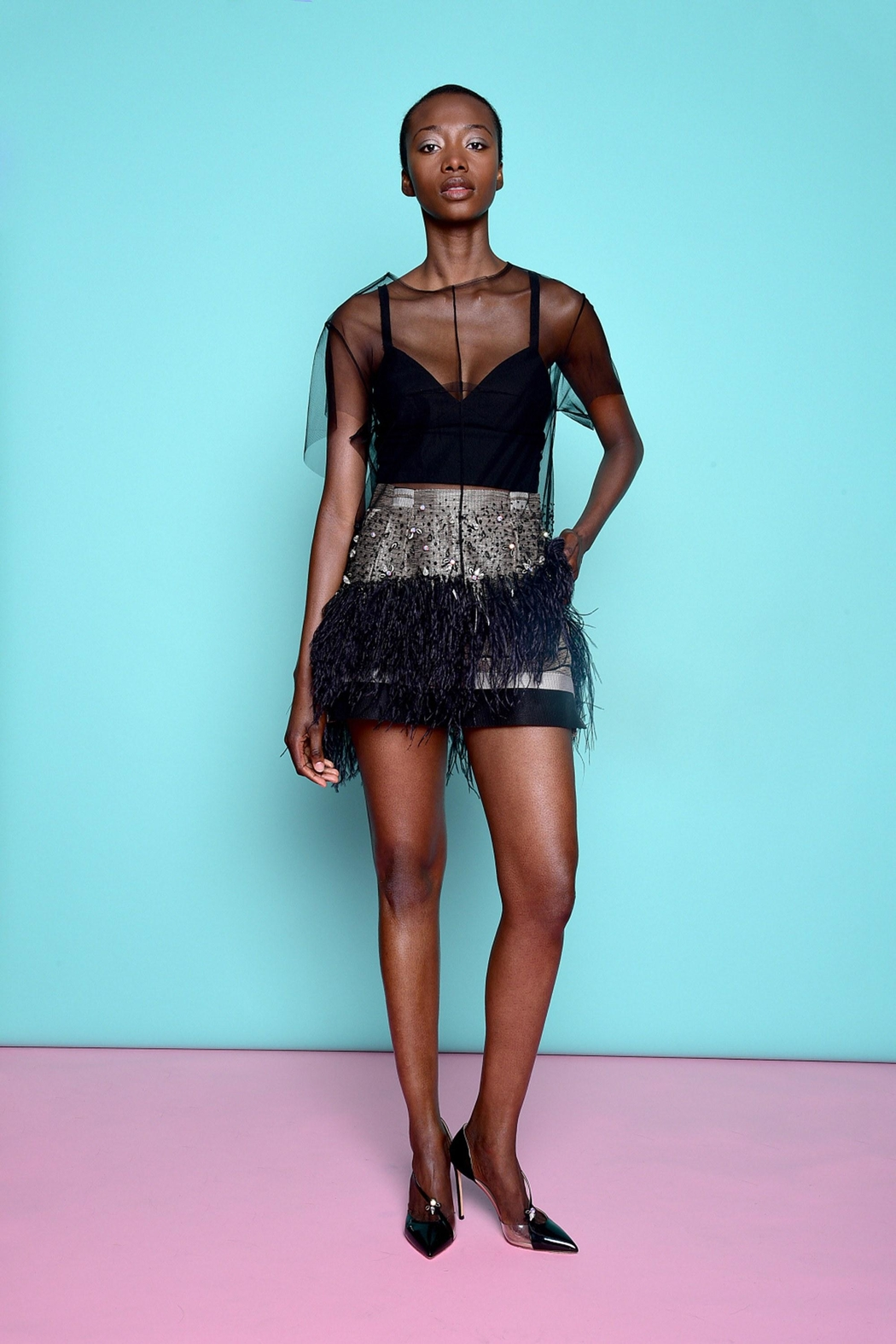 Kimora Lee Simmons Lace Tee Shirt - Front Cropped Image