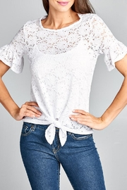 DNA Couture Lace Tie Shirt - Front cropped
