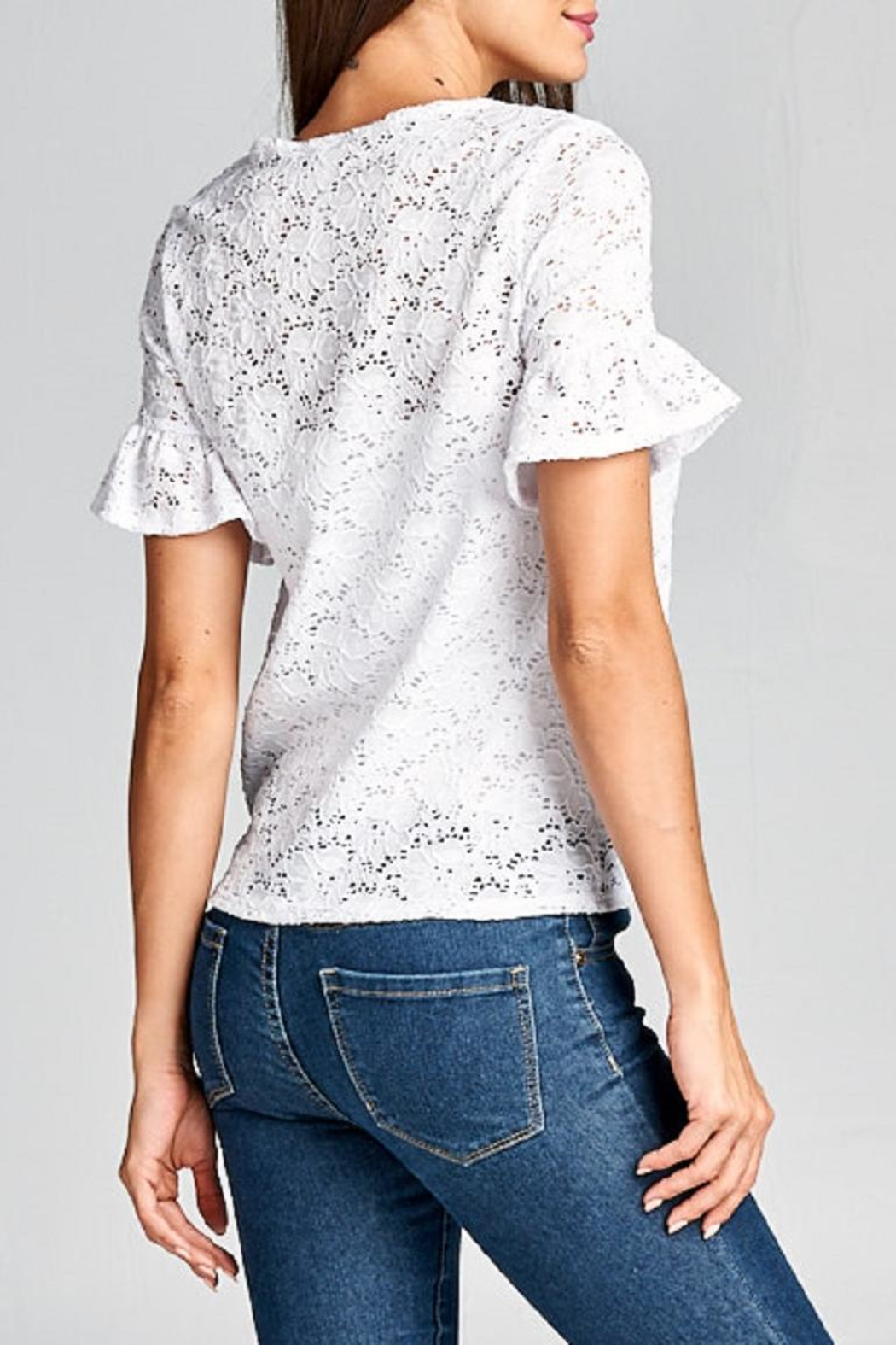 DNA Couture Lace Tie Shirt - Side Cropped Image