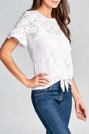 DNA Couture Lace Tie Shirt - Front full body