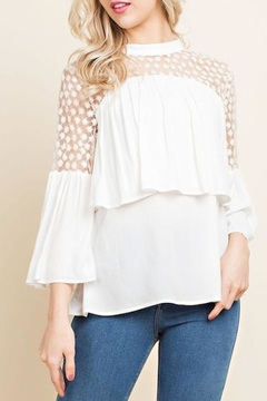 Blushing Heart Lace Top - Product List Image