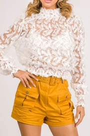 A Peach Lace Top - Product Mini Image