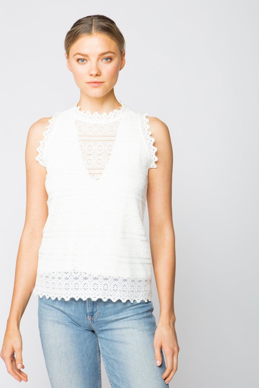 Red Haute Lace Top - Main Image