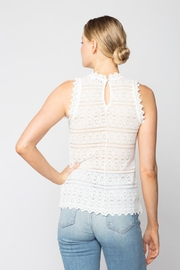 Red Haute Lace Top - Front full body