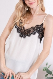 Lyn -Maree's Lace Top Cami - Front cropped