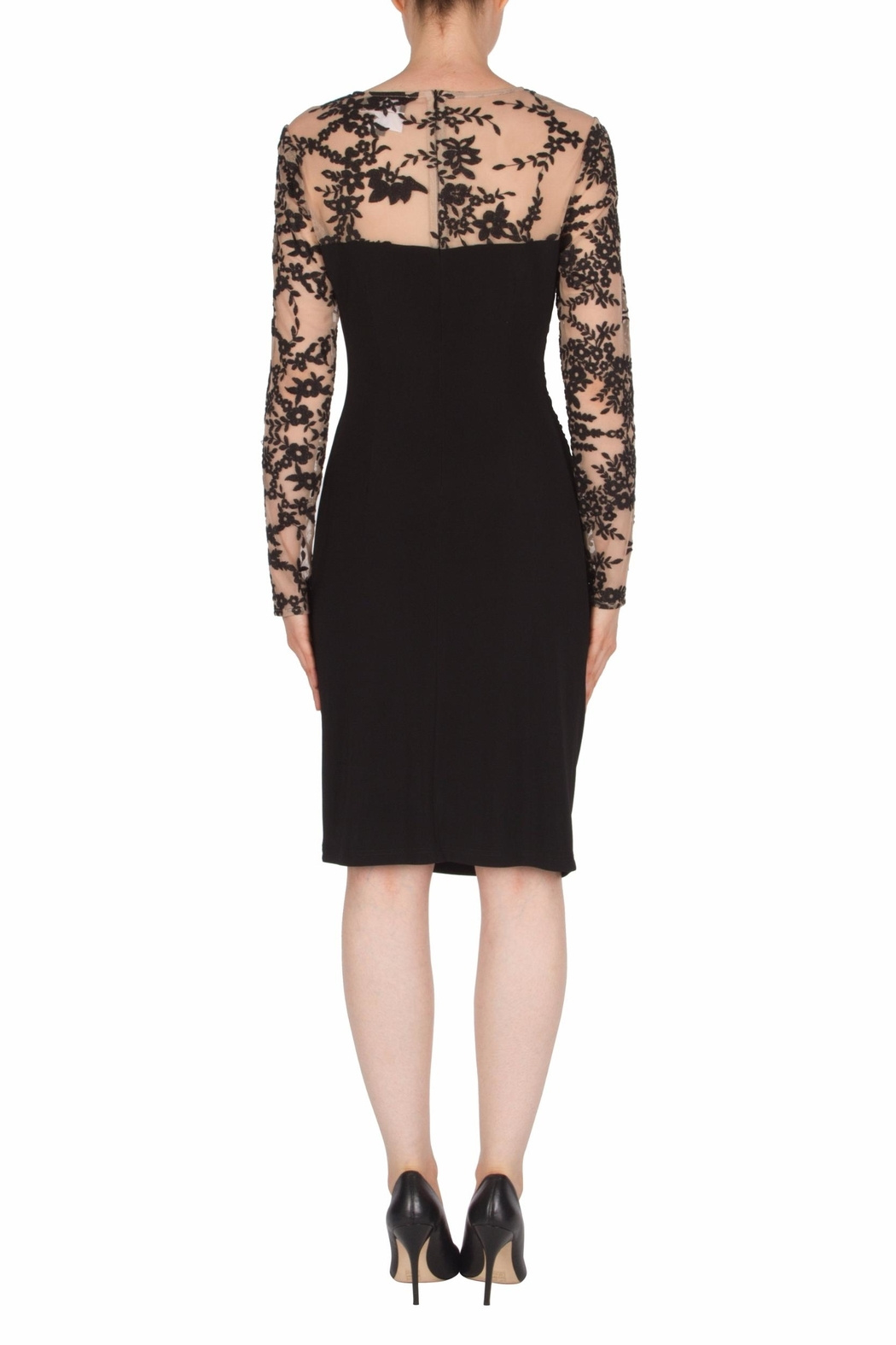 Joseph Ribkoff USA Inc. Lace Top Mock Neck Dress - Side Cropped Image