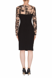 Joseph Ribkoff USA Inc. Lace Top Mock Neck Dress - Side cropped