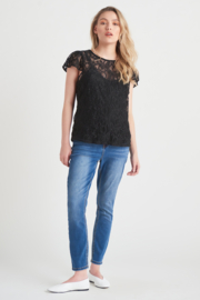 Black Tape/Dex Lace Top with Cami - Product Mini Image