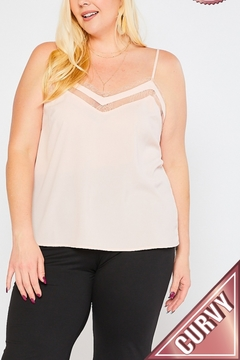 Lyn-Maree's  Lace Topped Cami, Plus Sizes! - Product List Image