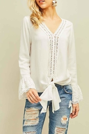 Entro Lace Trim Bell-Sleeve - Product Mini Image