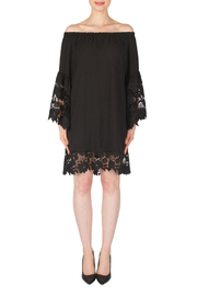 Joseph Ribkoff Lace Trim Bell Sleeve Dress - Front cropped