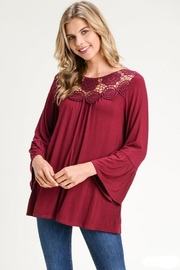 The Dressing Room Lace-Trim Bell-Sleeve - Product Mini Image