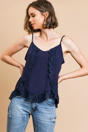 Umgee USA Lace Trim Cami-Tank - Front cropped
