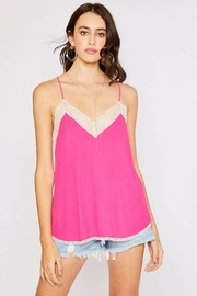 Cherry On Lace Trim Camisole - Product Mini Image