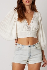Cotton Candy LA Lace Trim Crop-Top - Product Mini Image