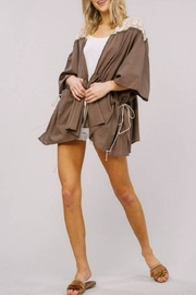 Listicle Lace Trim Jacket - Front full body