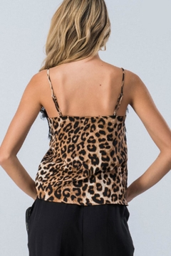 Trend:notes Lace-Trim Leopard Cami - Alternate List Image