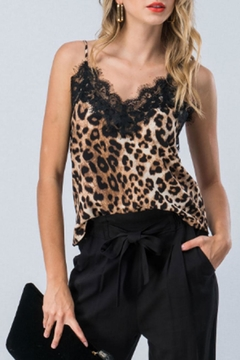 Trend:notes Lace-Trim Leopard Cami - Product List Image