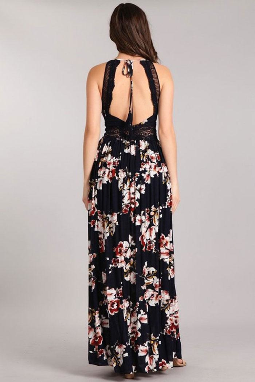 Sung Light Lace Trim Maxi - Front Full Image