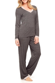 Fleur't Lace Trim Pajamas - Product Mini Image