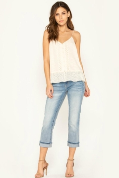 Miss Me Lace-Trim Ruffle Top - Alternate List Image