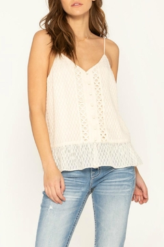 Miss Me Lace-Trim Ruffle Top - Product List Image