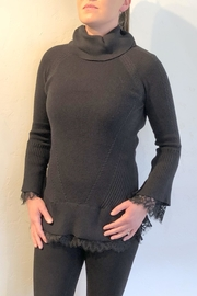 Sharon Young Lace Trim Sweater - Product Mini Image