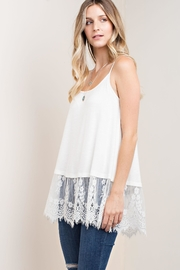 KORI AMERICA Lace Trim Tank - Product Mini Image