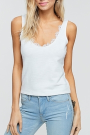 crescent Lace Trim Tank - Front cropped