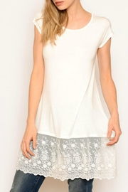 Chris & Carol Lace Trim Tee - Product Mini Image