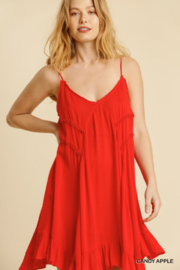 umgee  Lace Trimmed Asymmetrical Dress - Product Mini Image