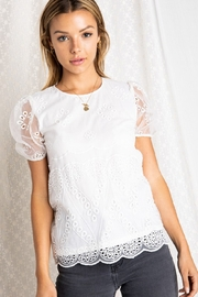 BaeVely Lace Trimmed Blouse - Product Mini Image