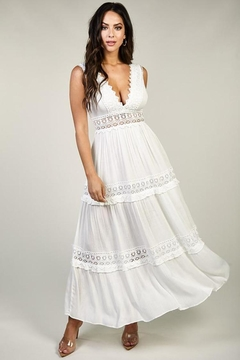 Latiste Lace Trimmed Maxi - Product List Image