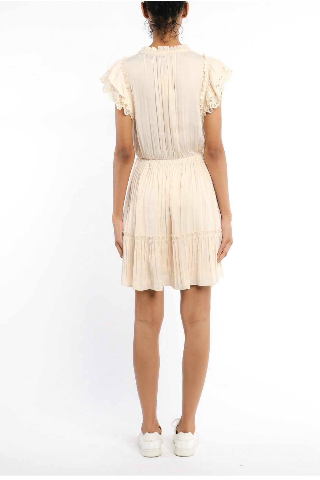 Current Air Lace trimmed short sleeve dress - Front Full Image