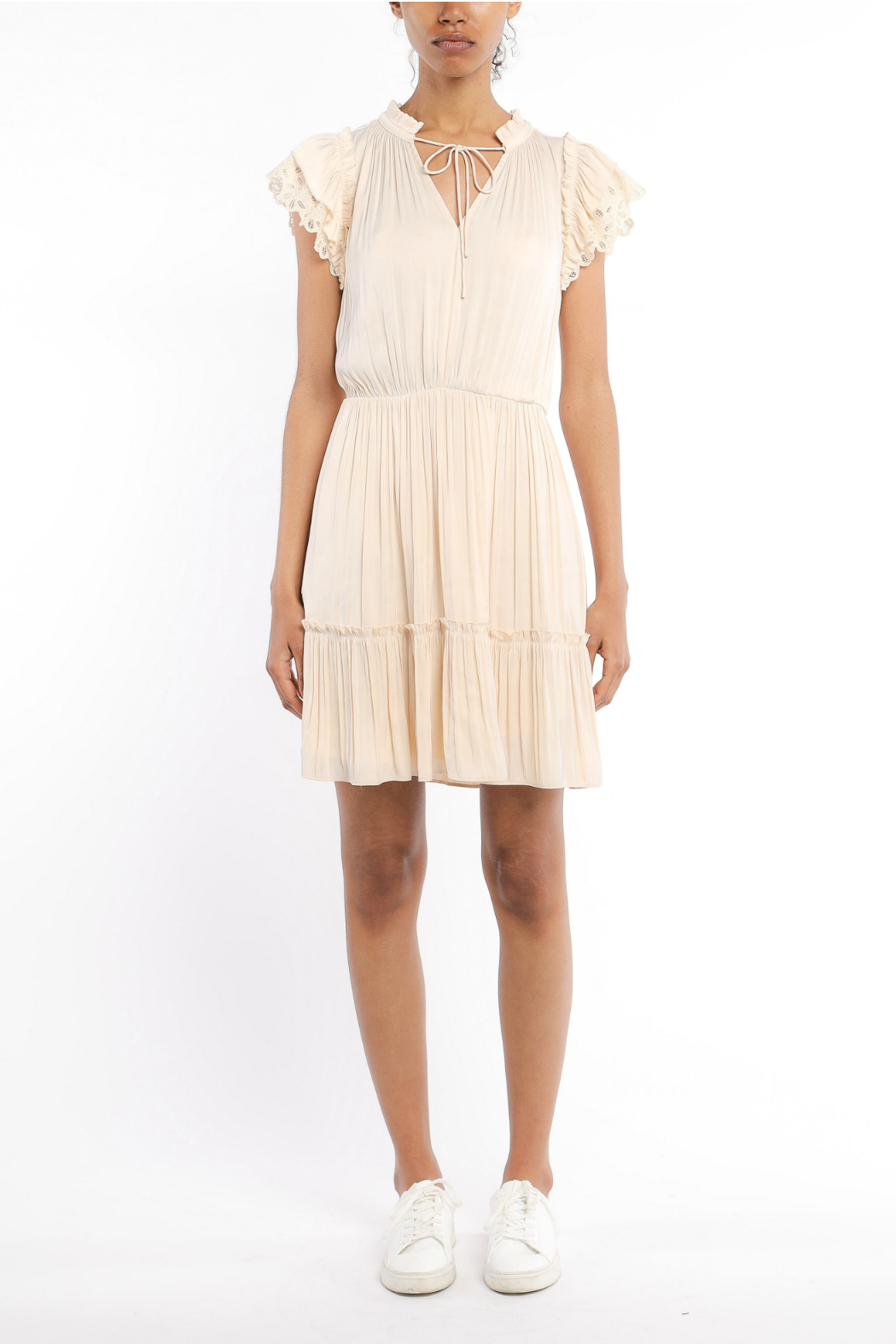 Current Air Lace trimmed short sleeve dress - Main Image