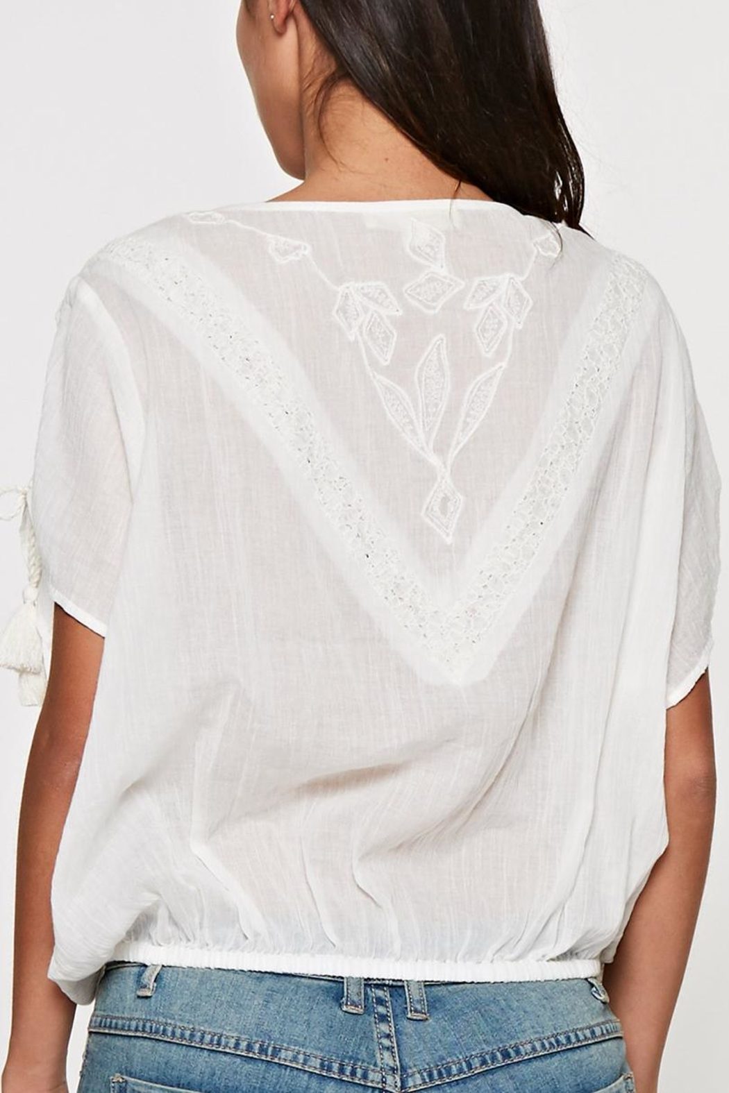 Lovestitch Lace Trimmed Top - Side Cropped Image