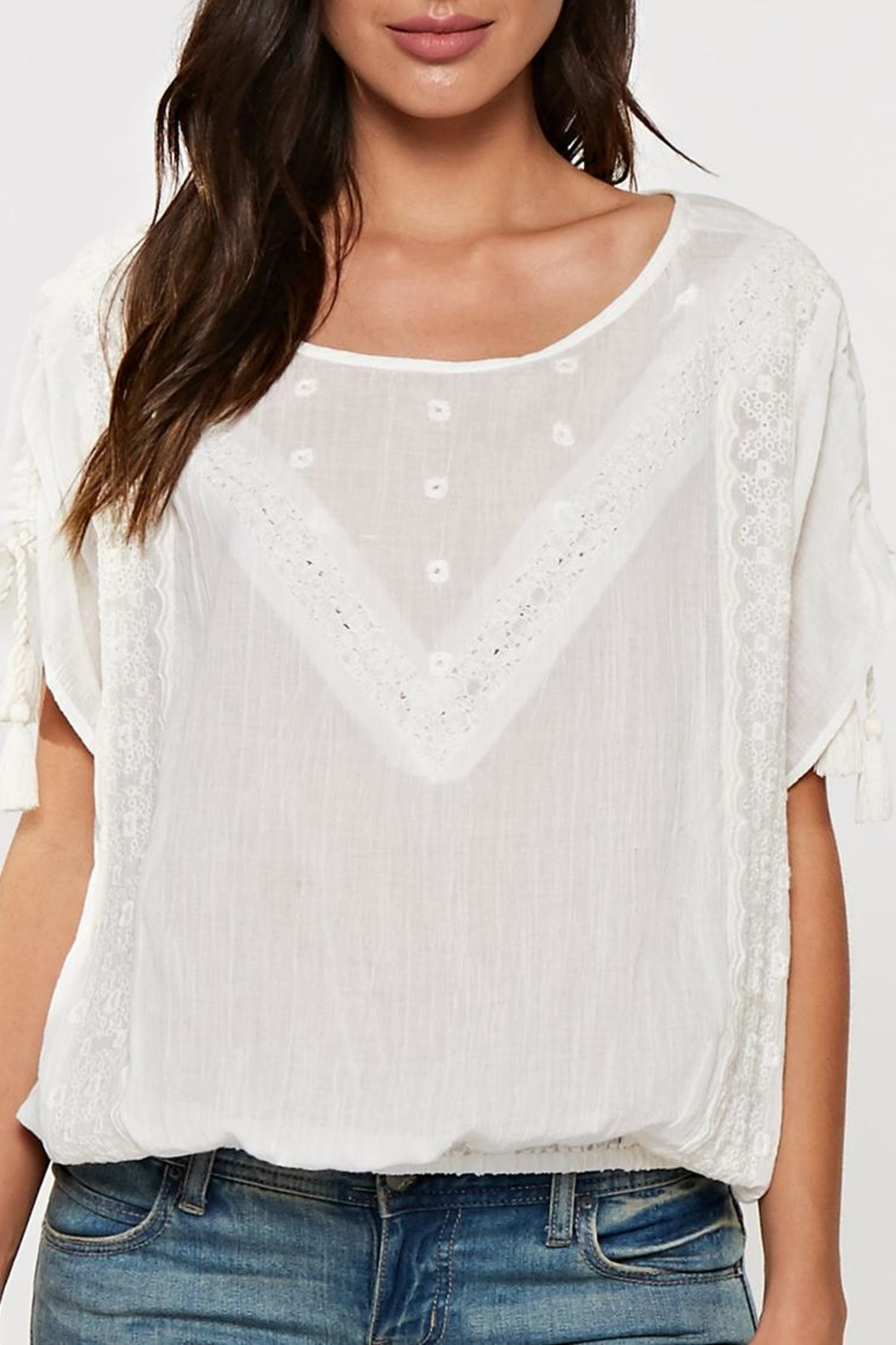 Lovestitch Lace Trimmed Top - Main Image