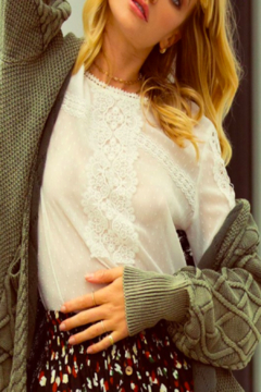 Promesa Pearl Lace Top - Product List Image