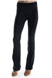 T Party Lace Trimmed Yoga Pants - Product Mini Image