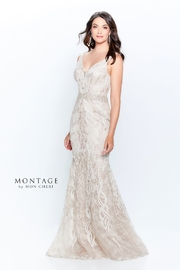 Montage Lace Trumpet Gown, Cappuccino - Product Mini Image