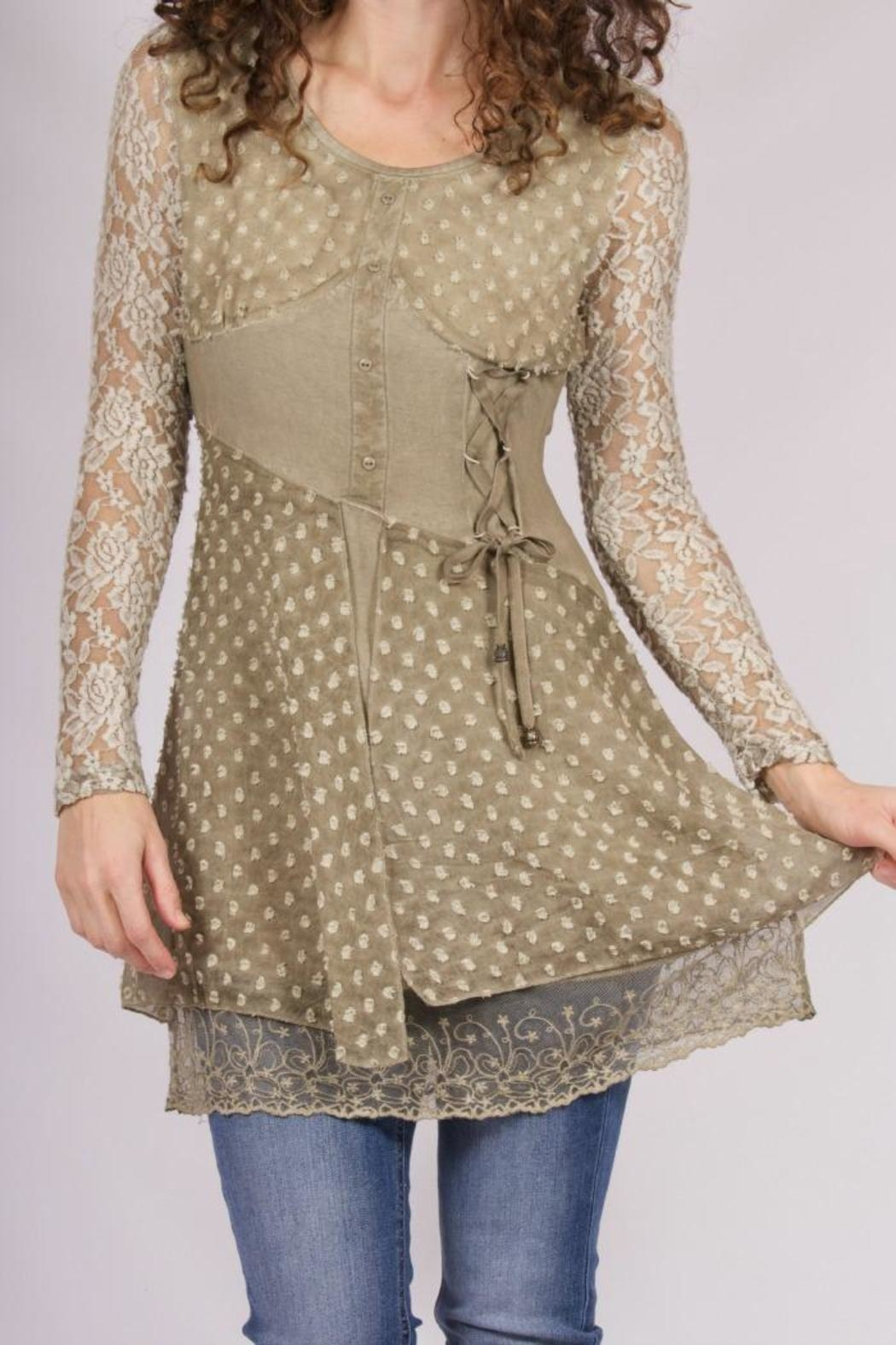 Vintage Concept Lace Tunic - Front Cropped Image