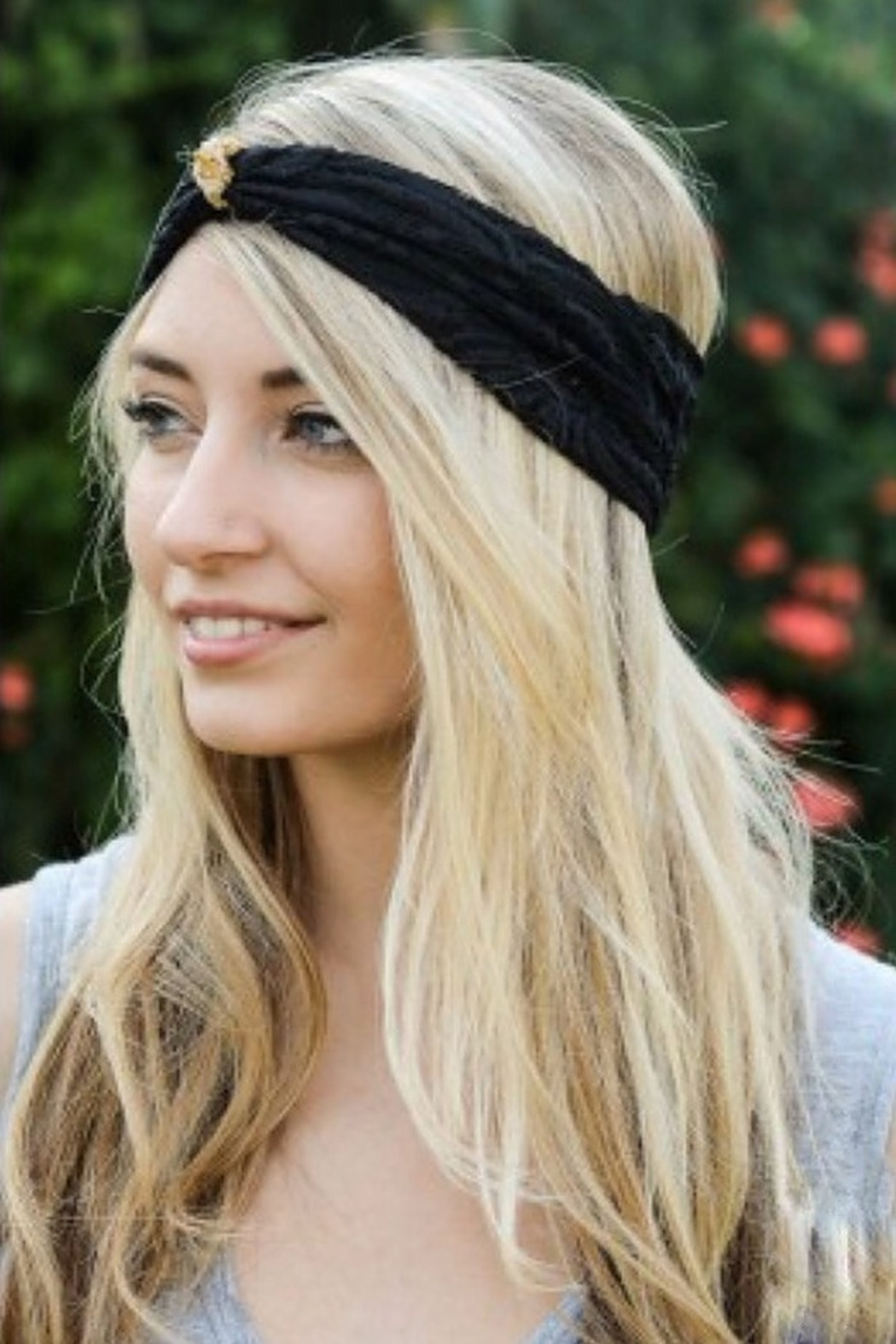 Leto lace turban headband - Front Cropped Image